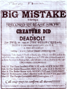 Record Release Flyer. 1993